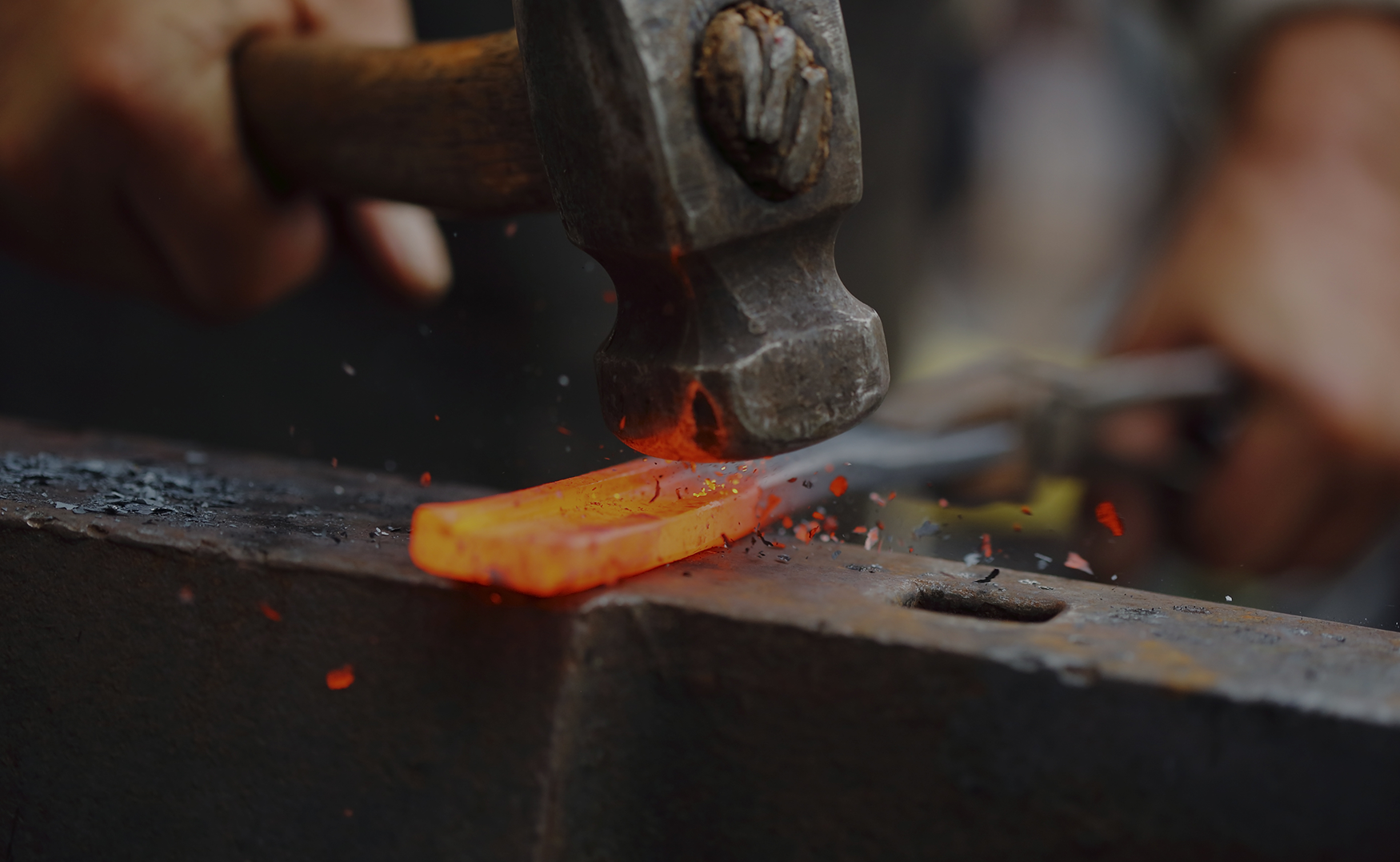 Old fashioned blacksmith forge 76
